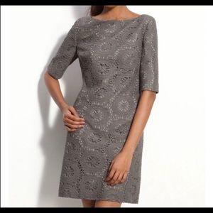 Adrianna Papell Gray Crochet Dress